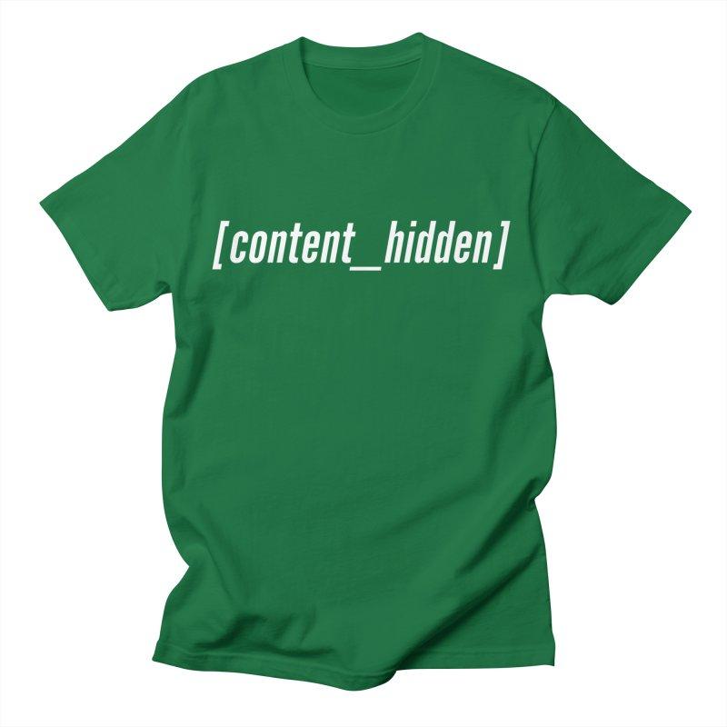 Content Hidden (White Font) Men's T-Shirt by TheWizardWardrobe's Artist Shop