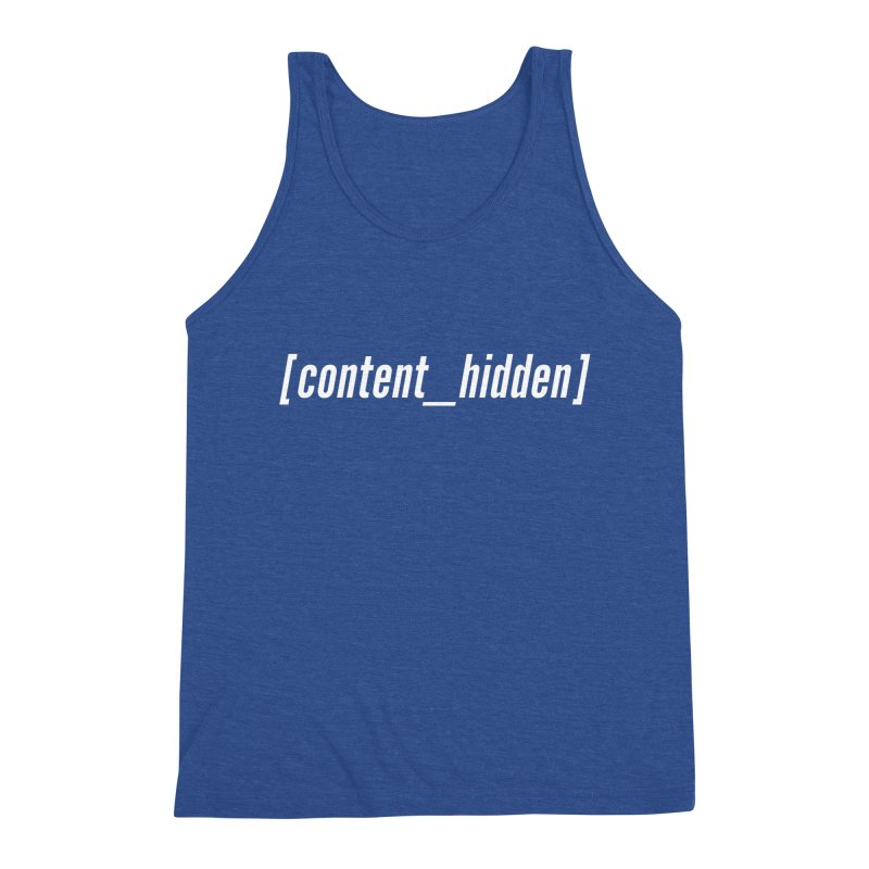Content Hidden (White Font) Men's Tank by TheWizardWardrobe's Artist Shop