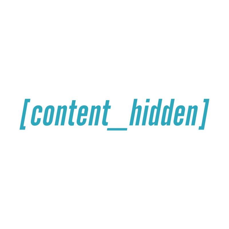 Content Hidden (Cyan Font) Men's Tank by TheWizardWardrobe's Artist Shop