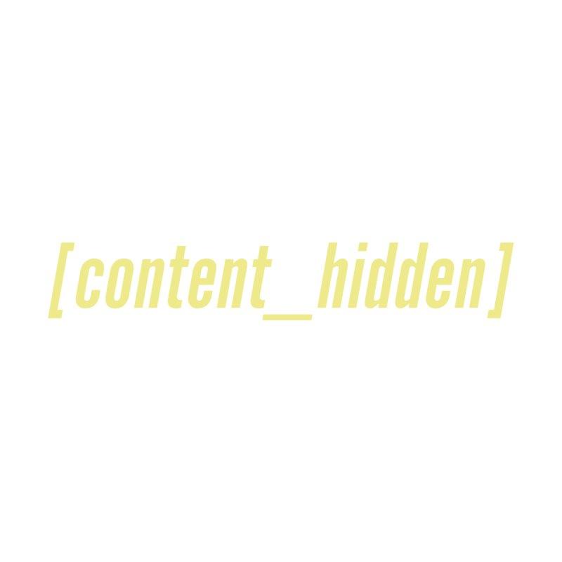 Content Hidden (Yellow Font) Men's T-Shirt by TheWizardWardrobe's Artist Shop