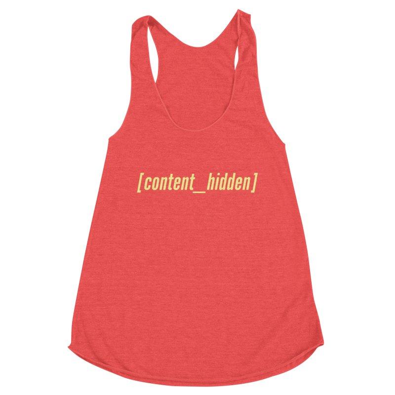 Content Hidden (Yellow Font) Women's Tank by TheWizardWardrobe's Artist Shop