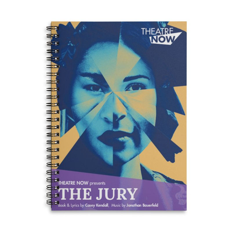 The Jury Accessories Lined Spiral Notebook by TheatreNow's Artist Shop