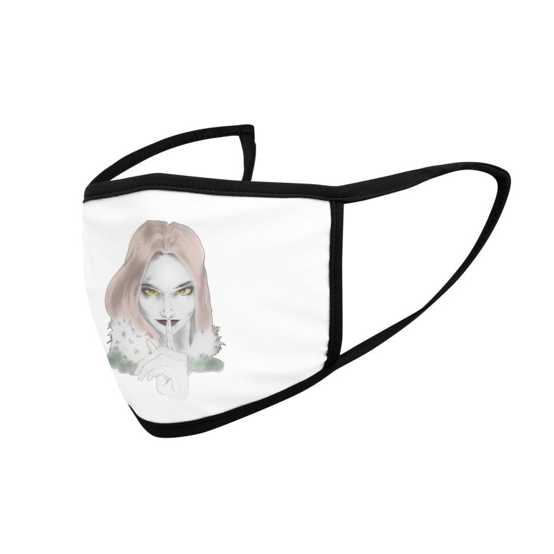 Shushing Woman Accessories Face Mask by Thecaravanoflore's Artist Shop