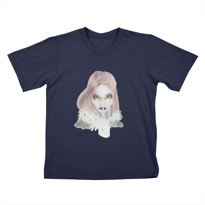 Shushing Woman Kids T-Shirt by Thecaravanoflore's Artist Shop