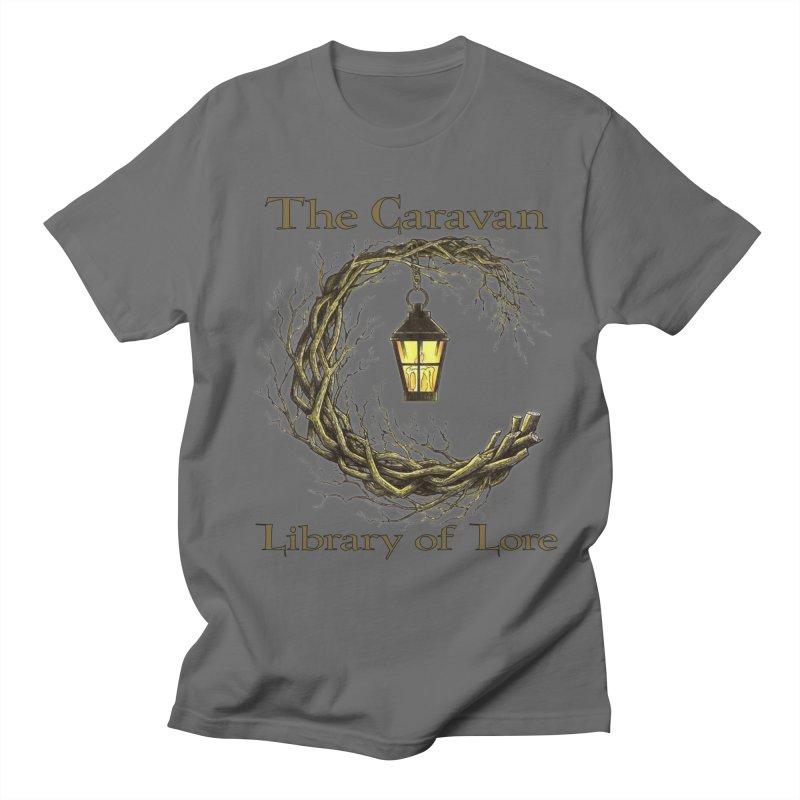 Caravan Library of Lore Men's T-Shirt by Thecaravanoflore's Artist Shop