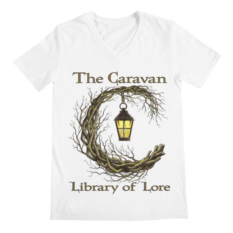 Caravan Library of Lore Men's V-Neck by Thecaravanoflore's Artist Shop