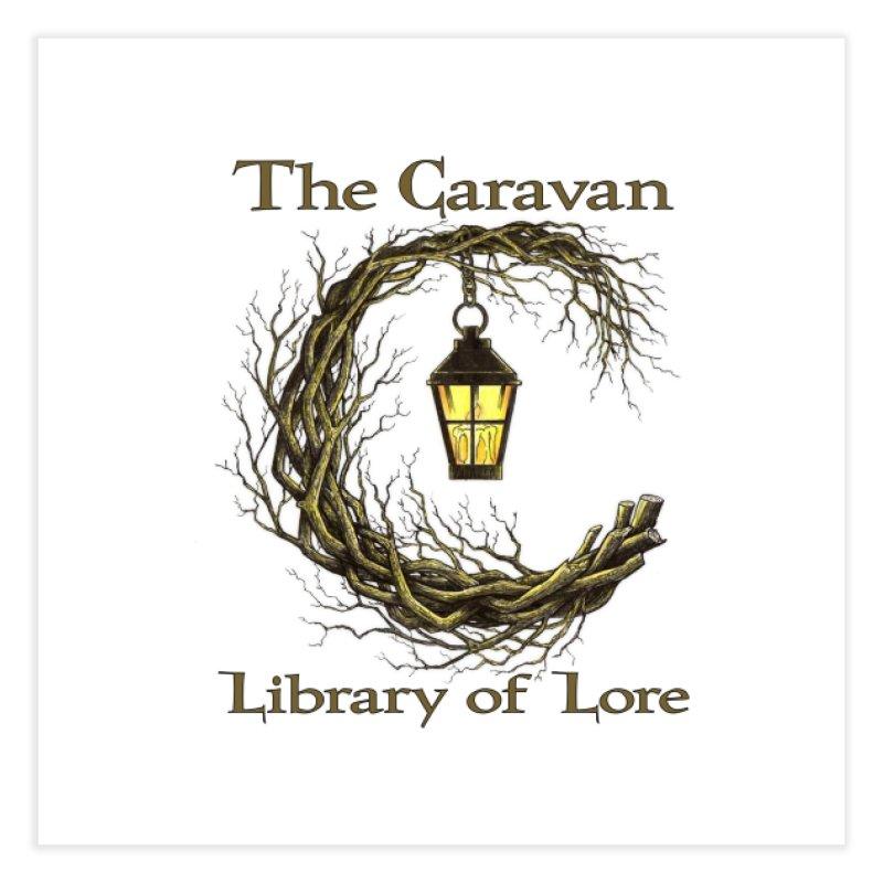 Caravan Library of Lore Home Fine Art Print by Thecaravanoflore's Artist Shop