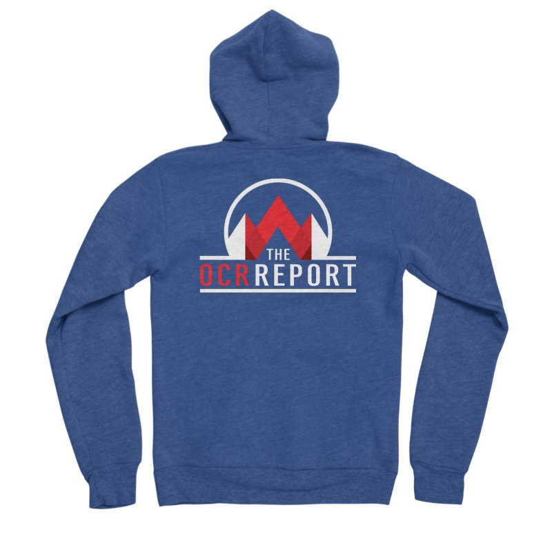The OCR Report White Men's Zip-Up Hoody by The OCR Report