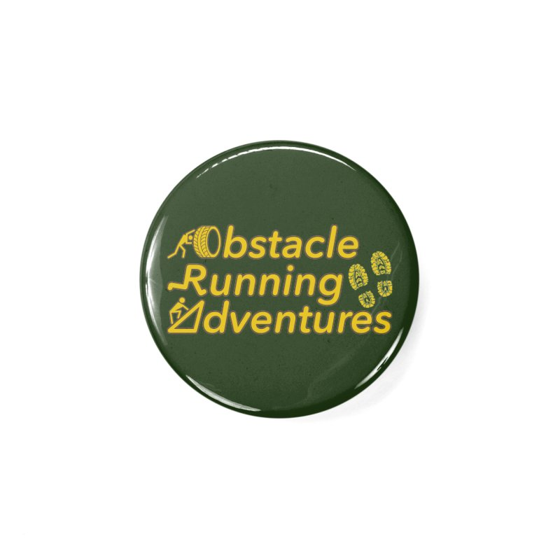 Obstacle Running Adventures Accessories Button by The OCR Report