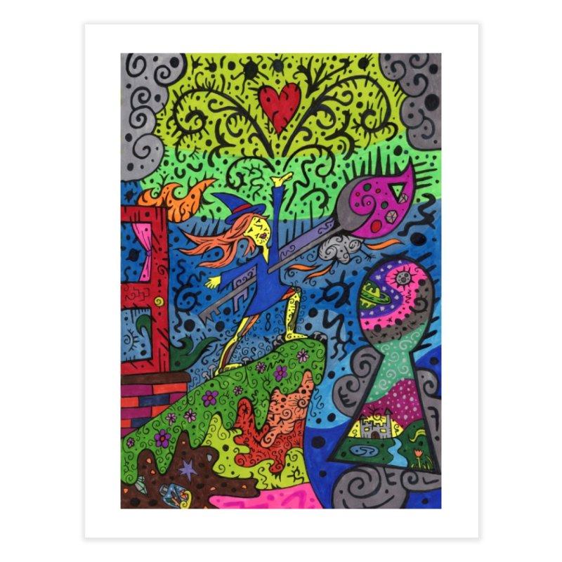 Ace of Keys of The Patella Tarot Home, Décor & Cozy Fine Art Print by Paint AF's Artist Shop
