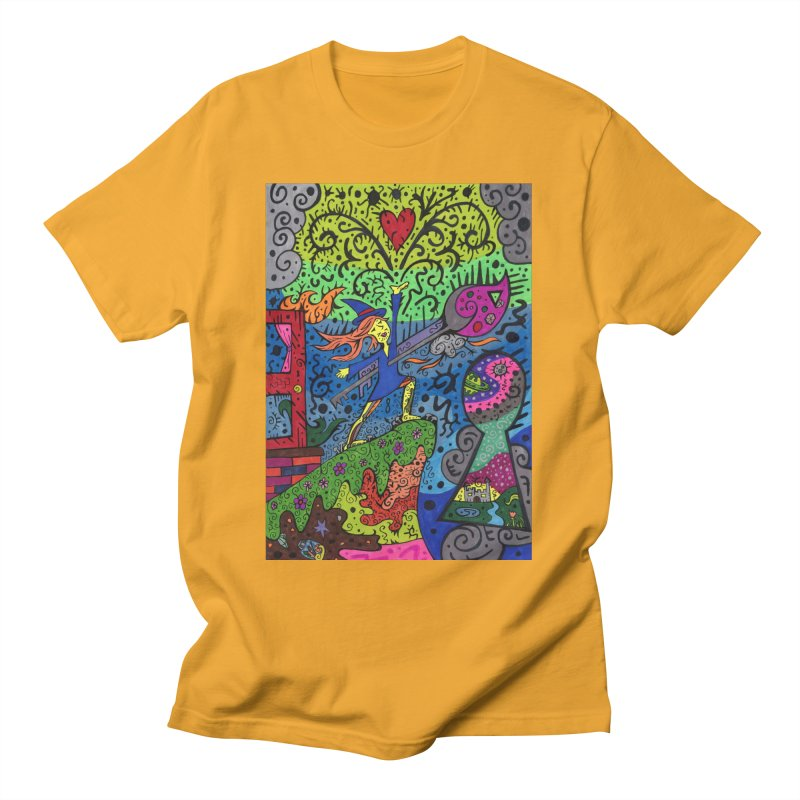 Ace of Keys of The Patella Tarot Comfortable Styles T-Shirt by Paint AF's Artist Shop