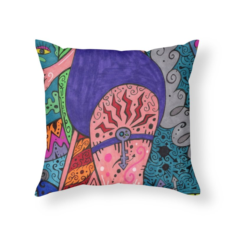 Adult of Keys of the Patella Tarot Home, Décor & Cozy Throw Pillow by Paint AF's Artist Shop
