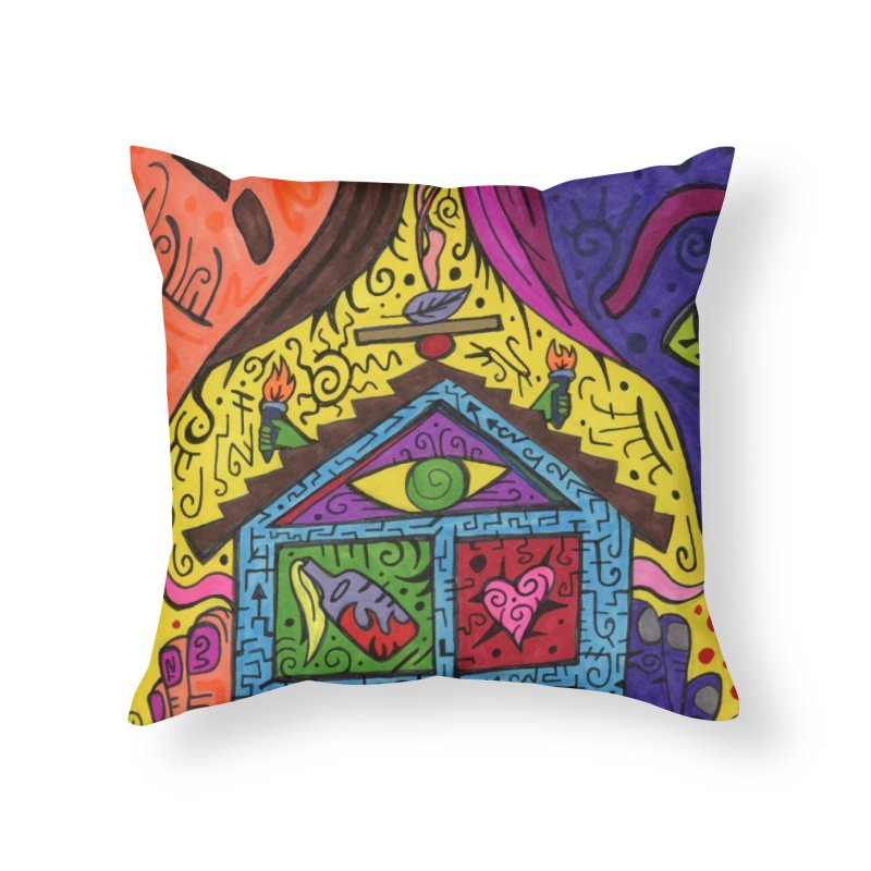 The Patella Tarot - Justice Home, Décor & Cozy Throw Pillow by Paint AF's Artist Shop