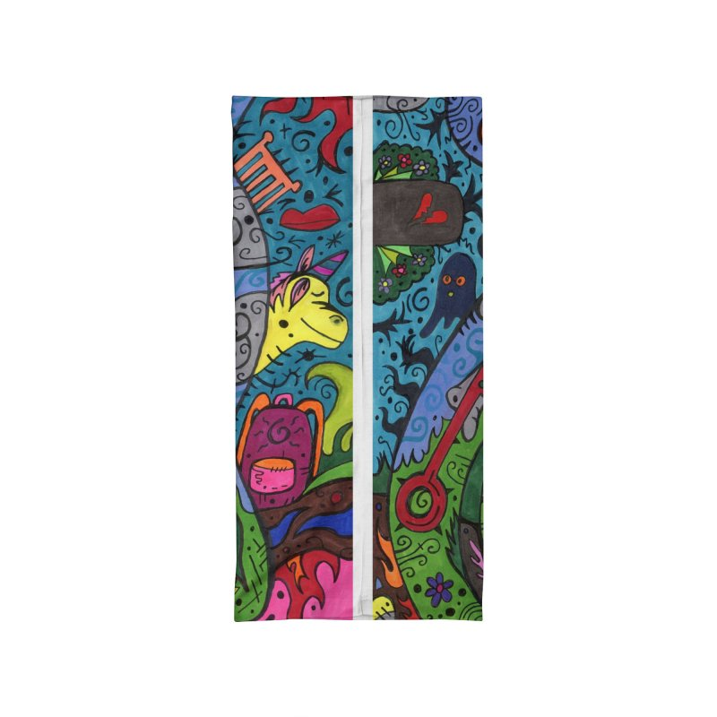6 of Keys of the Patella Tarot: Looking Forward Masks, Gifts & Accessories Neck Gaiter by Paint AF's Artist Shop