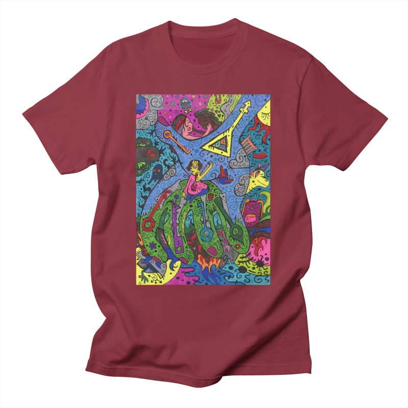 6 of Keys of the Patella Tarot: Looking Forward Comfortable Styles T-Shirt by Paint AF's Artist Shop