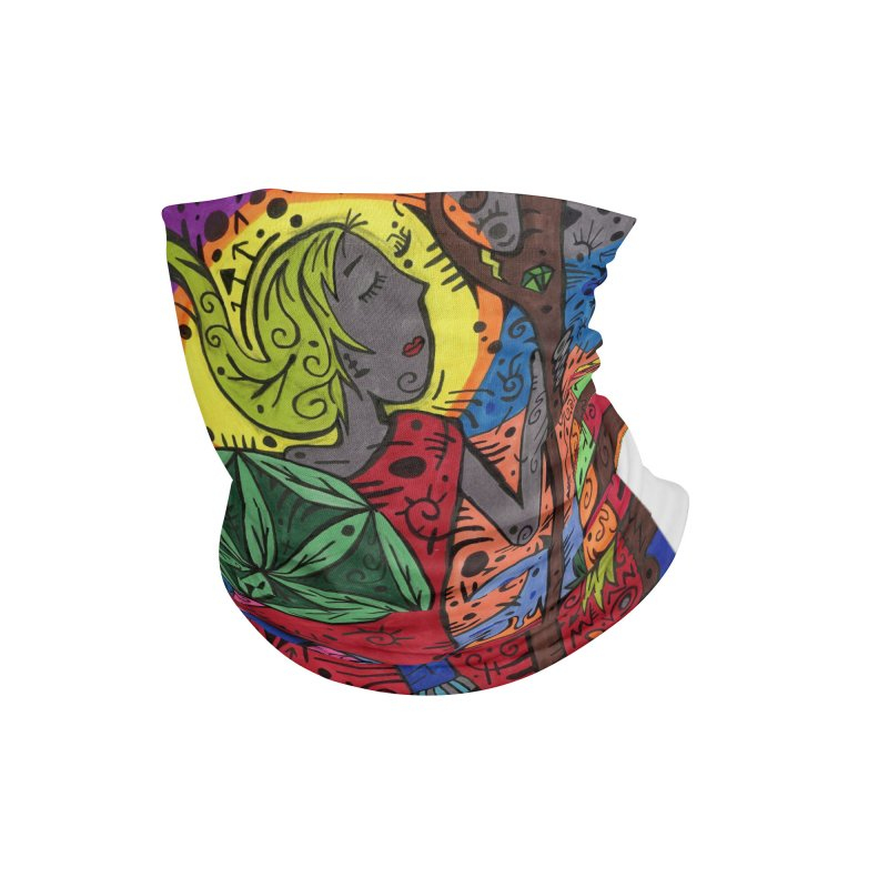 Teen of Leaves of the Patella Tarot Masks, Gifts & Accessories Neck Gaiter by Paint AF's Artist Shop