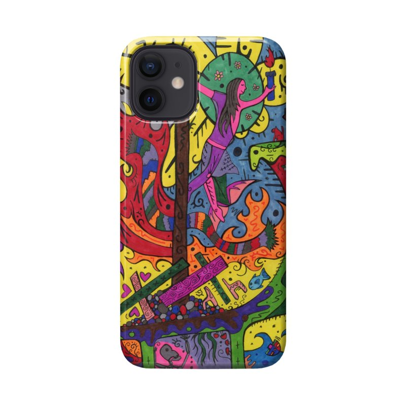 Elder of Candles of the Patella Tarot Masks, Gifts & Accessories Phone Case by Paint AF's Artist Shop