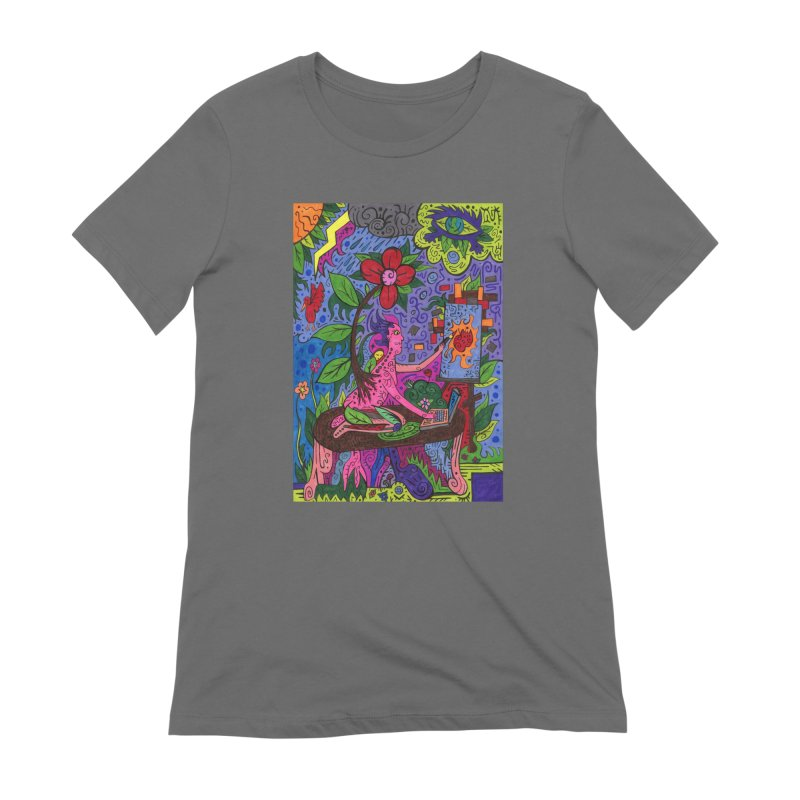 Adults of Leaves of the Patella Tarot Fitted Clothing Styles T-Shirt by Paint AF's Artist Shop