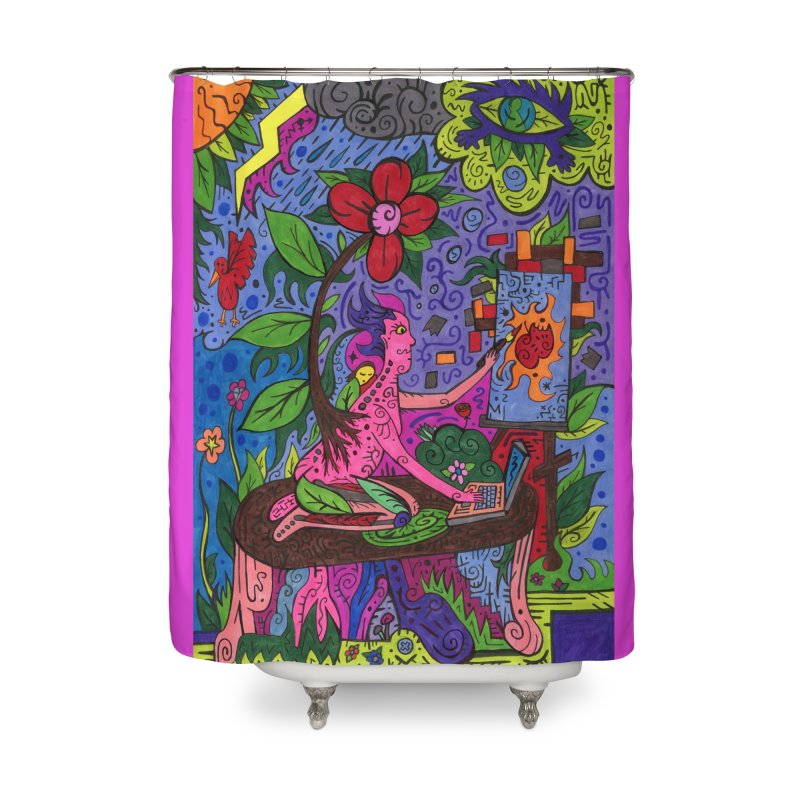Adults of Leaves of the Patella Tarot Home, Décor & Cozy Shower Curtain by Paint AF's Artist Shop