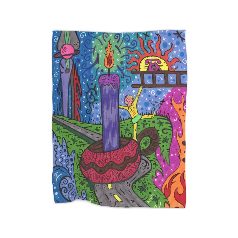 Child of Candles of the Patella Tarot Home, Décor & Cozy Blanket by Paint AF's Artist Shop