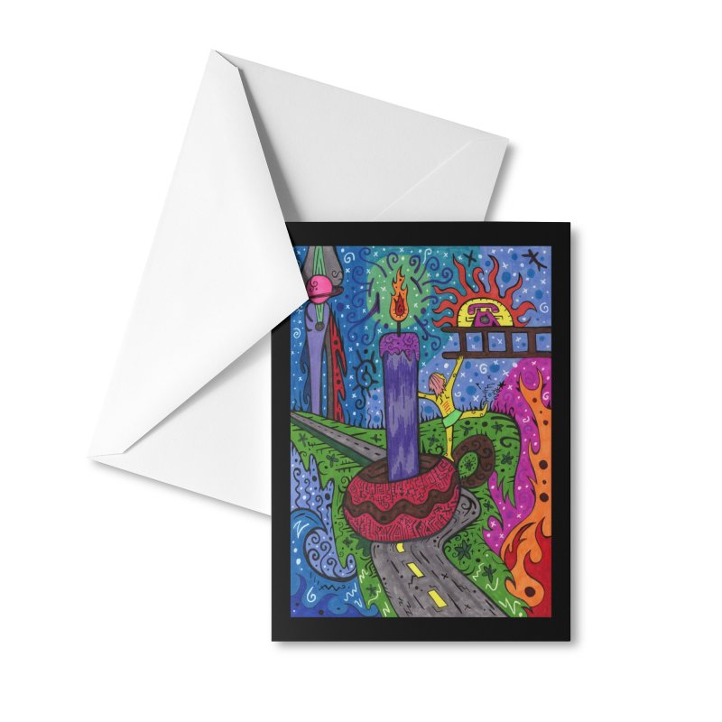 Child of Candles of the Patella Tarot Masks, Gifts & Accessories Greeting Card by Paint AF's Artist Shop