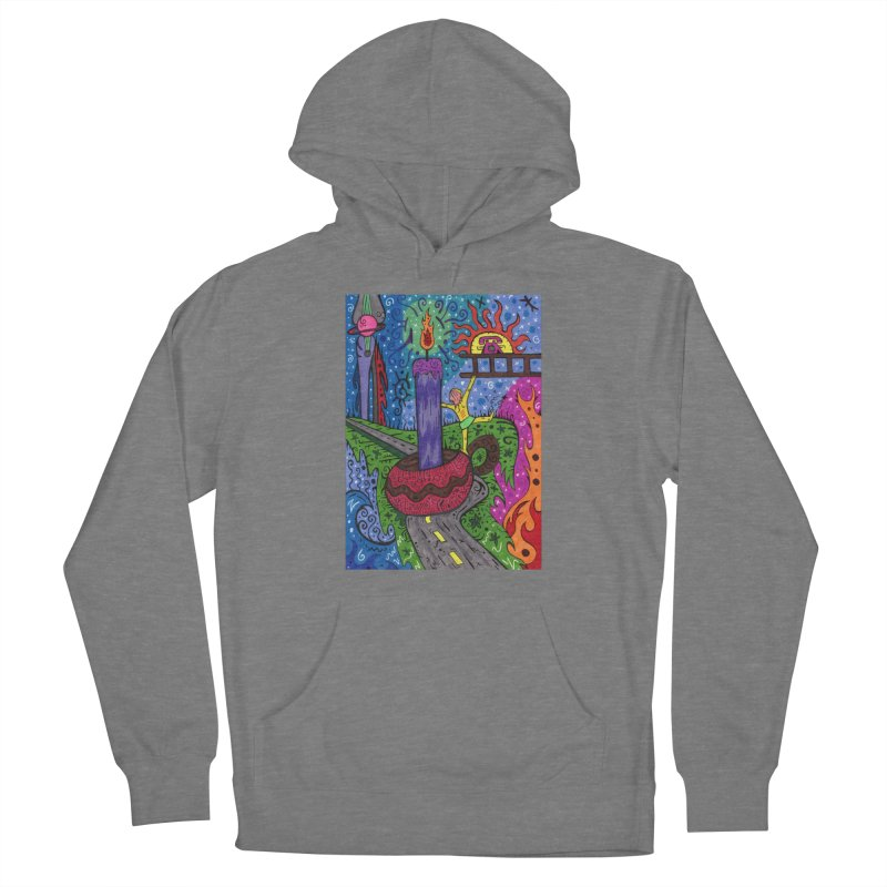 Child of Candles of the Patella Tarot Fitted Clothing Styles Pullover Hoody by Paint AF's Artist Shop