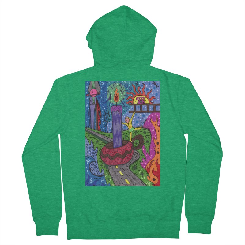 Child of Candles of the Patella Tarot Comfortable Styles Zip-Up Hoody by Paint AF's Artist Shop