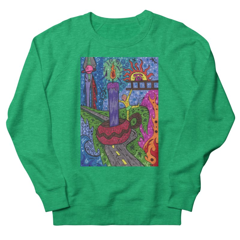 Child of Candles of the Patella Tarot Fitted Clothing Styles Sweatshirt by Paint AF's Artist Shop