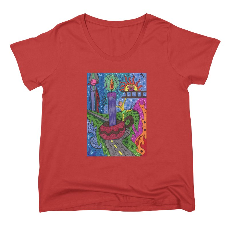 Child of Candles of the Patella Tarot Fitted Clothing Styles Scoop Neck by Paint AF's Artist Shop