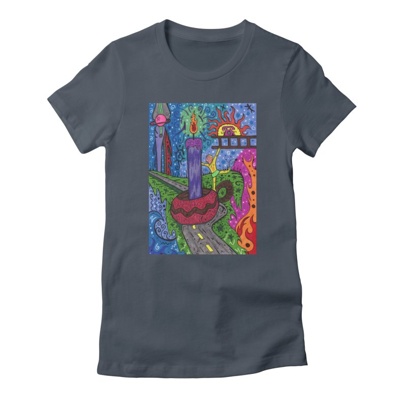 Child of Candles of the Patella Tarot Fitted Clothing Styles T-Shirt by Paint AF's Artist Shop