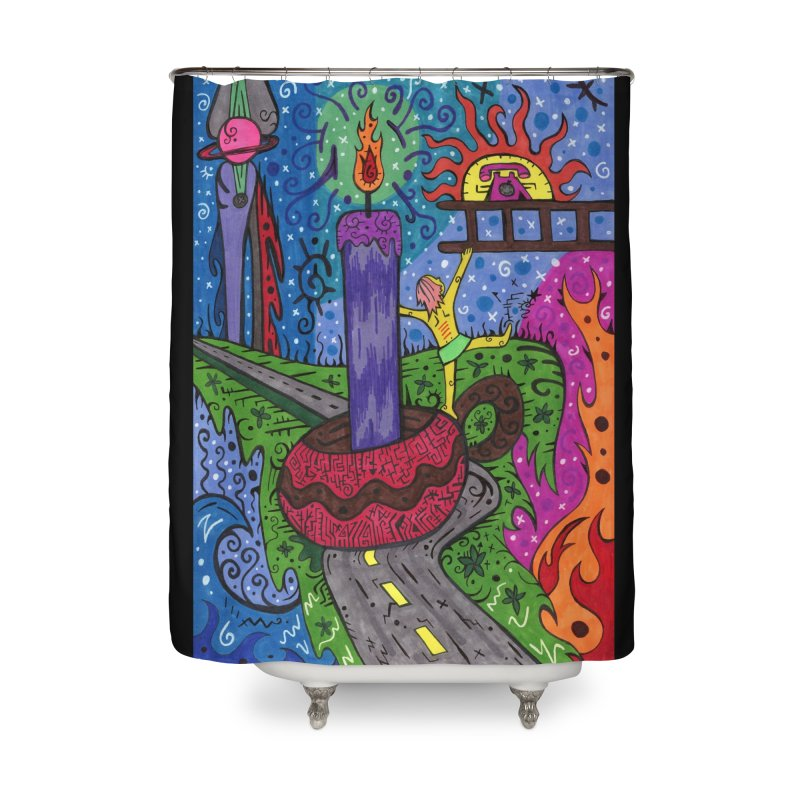 Child of Candles of the Patella Tarot Home, Décor & Cozy Shower Curtain by Paint AF's Artist Shop
