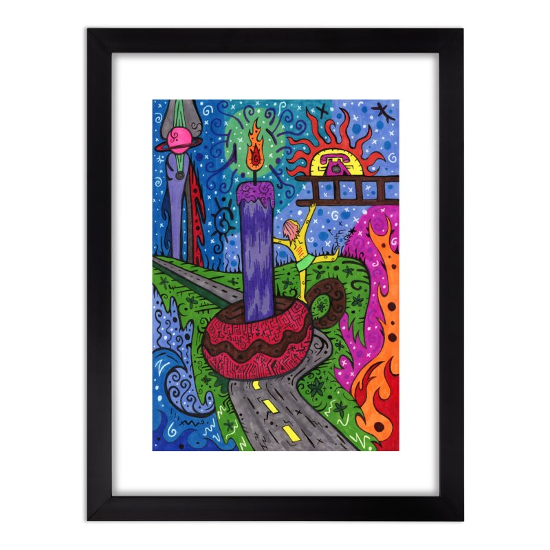 Child of Candles of the Patella Tarot Home, Décor & Cozy Framed Fine Art Print by Paint AF's Artist Shop