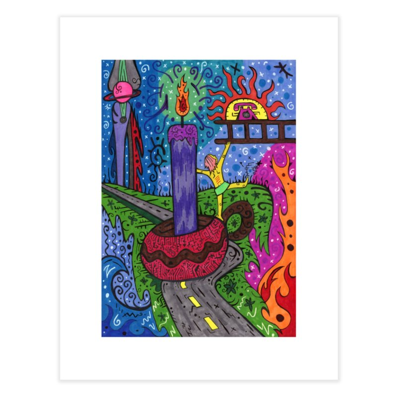 Child of Candles of the Patella Tarot Home, Décor & Cozy Fine Art Print by Paint AF's Artist Shop