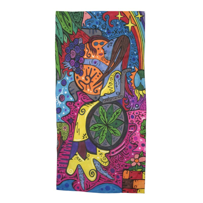 Elder of Leaves of the Patella Tarot Masks, Gifts & Accessories Beach Towel by Paint AF's Artist Shop