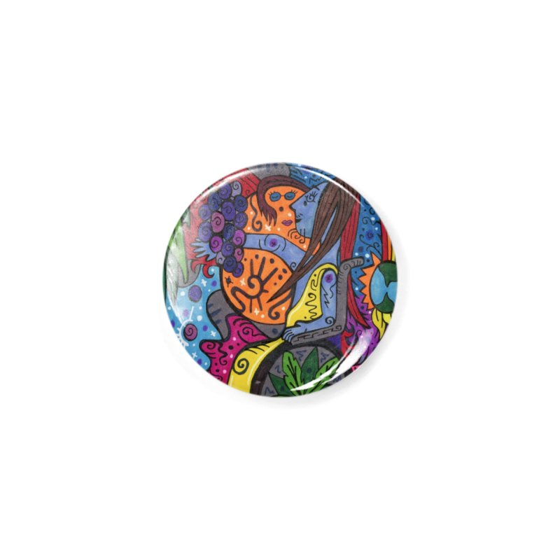 Elder of Leaves of the Patella Tarot Masks, Gifts & Accessories Button by Paint AF's Artist Shop