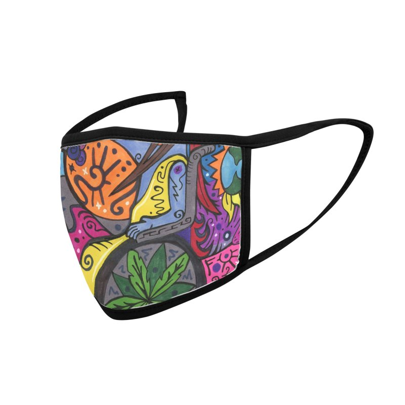 Elder of Leaves of the Patella Tarot Masks, Gifts & Accessories Face Mask by Paint AF's Artist Shop