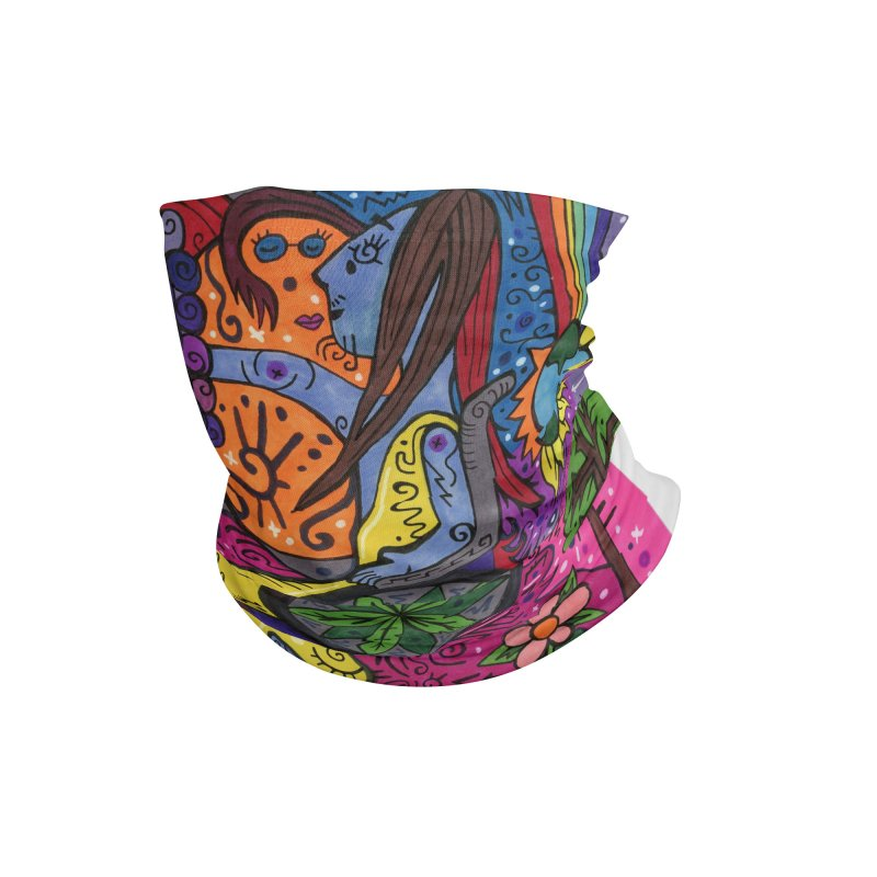 Elder of Leaves of the Patella Tarot Masks, Gifts & Accessories Neck Gaiter by Paint AF's Artist Shop