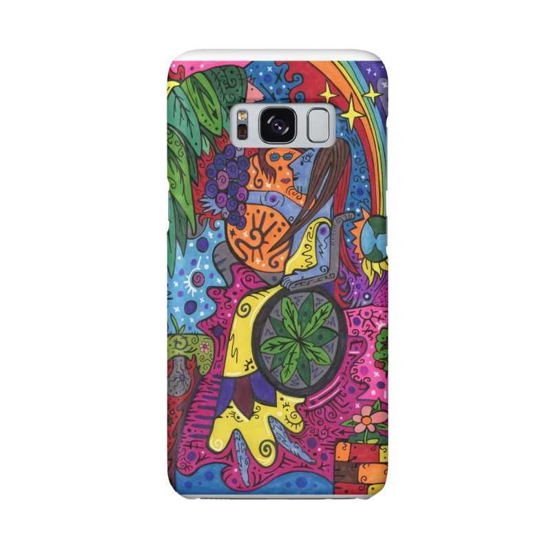 Elder of Leaves of the Patella Tarot Masks, Gifts & Accessories Phone Case by Paint AF's Artist Shop