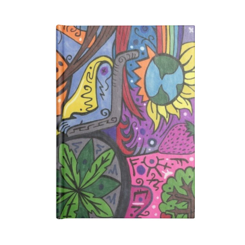 Elder of Leaves of the Patella Tarot Masks, Gifts & Accessories Notebook by Paint AF's Artist Shop
