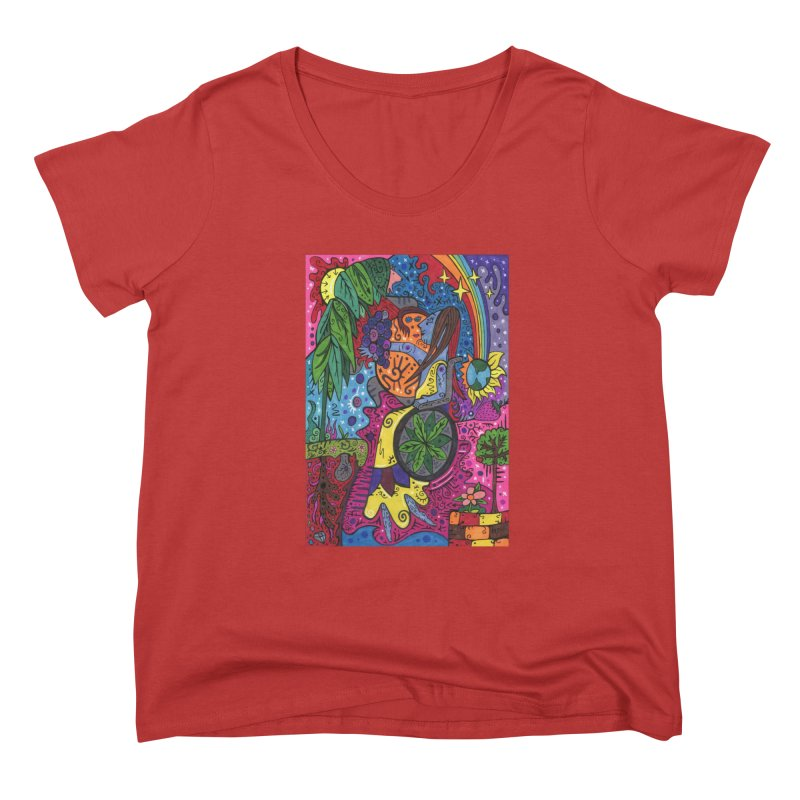 Elder of Leaves of the Patella Tarot Fitted Clothing Styles Scoop Neck by Paint AF's Artist Shop