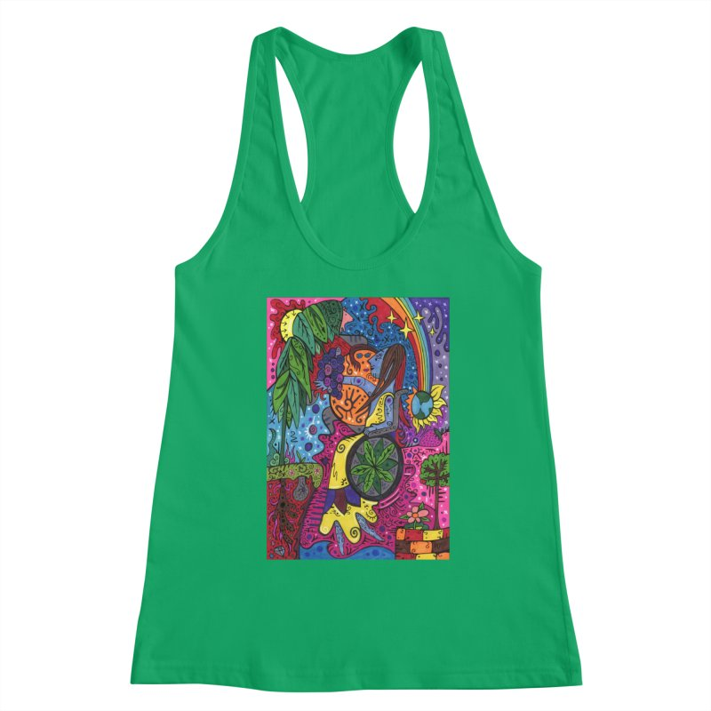 Elder of Leaves of the Patella Tarot Fitted Clothing Styles Tank by Paint AF's Artist Shop