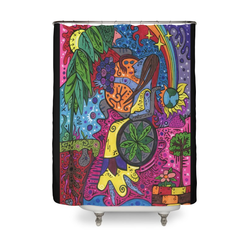 Elder of Leaves of the Patella Tarot Home, Décor & Cozy Shower Curtain by Paint AF's Artist Shop