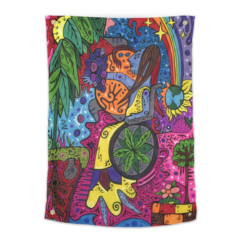 Elder of Leaves of the Patella Tarot Home, Décor & Cozy Tapestry by Paint AF's Artist Shop