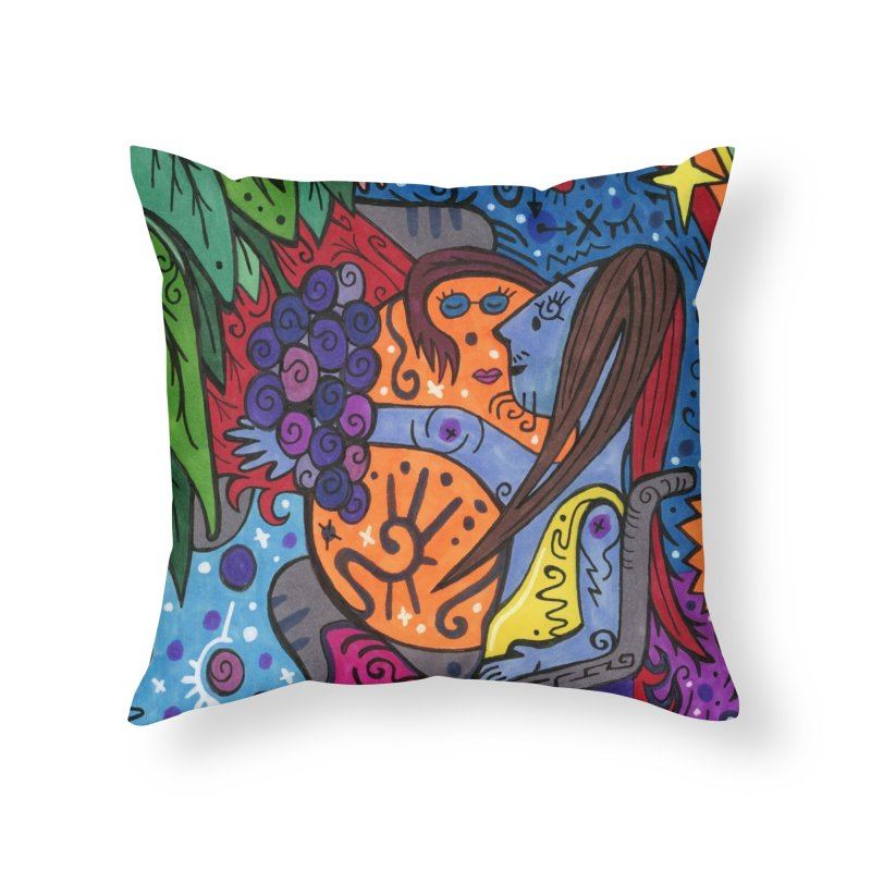 Elder of Leaves of the Patella Tarot Home, Décor & Cozy Throw Pillow by Paint AF's Artist Shop