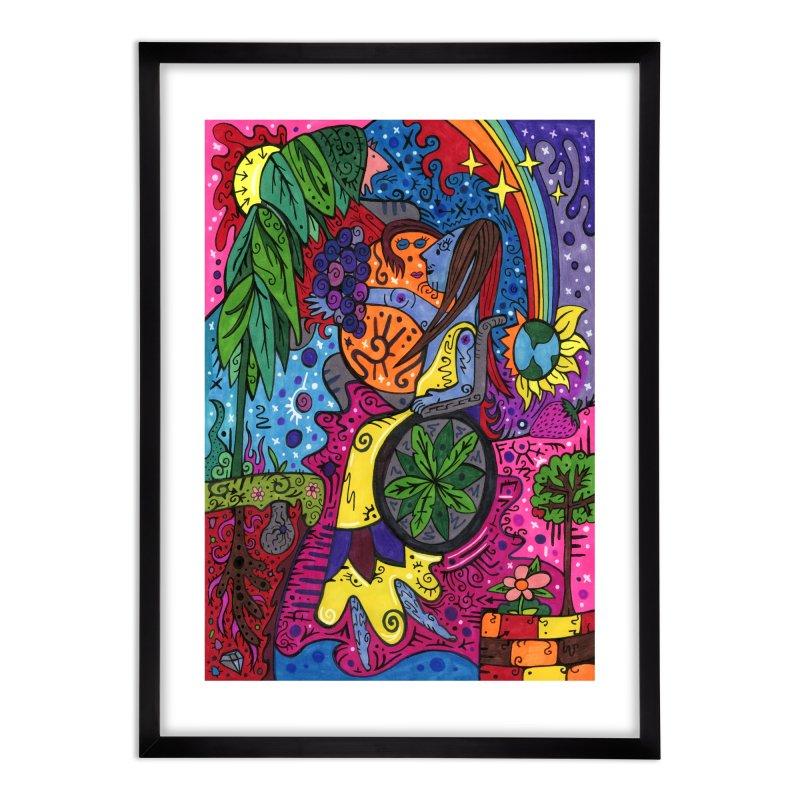 Elder of Leaves of the Patella Tarot Home, Décor & Cozy Framed Fine Art Print by Paint AF's Artist Shop