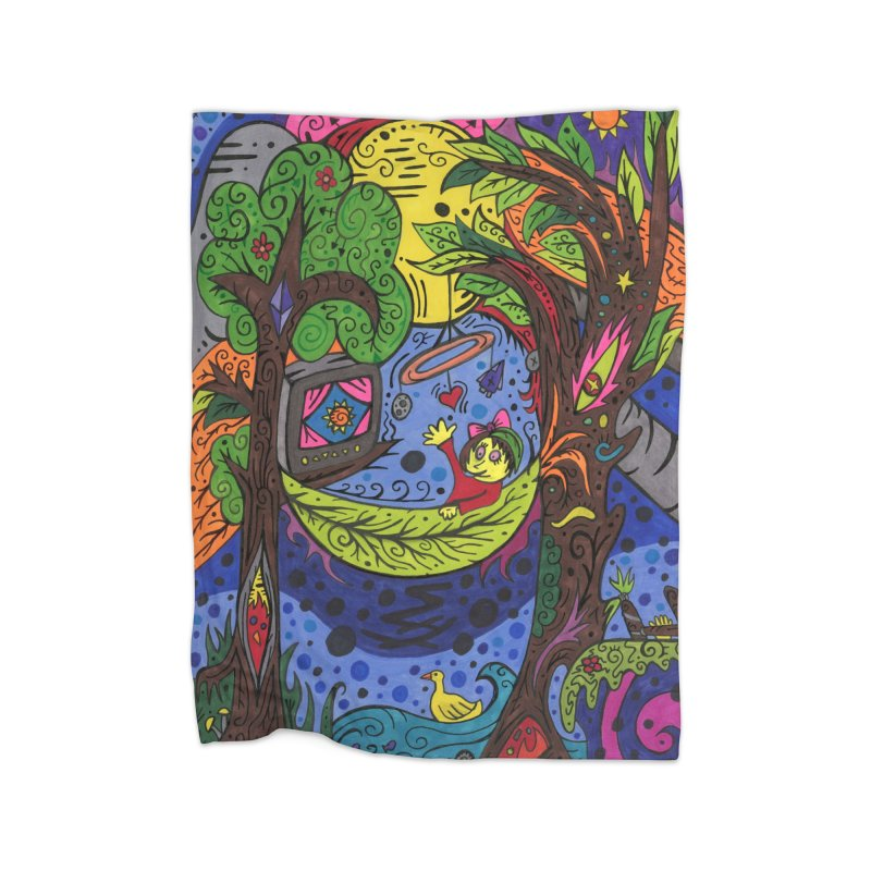 Child of Leaves of the Patella Tarot Home, Décor & Cozy Blanket by Paint AF's Artist Shop