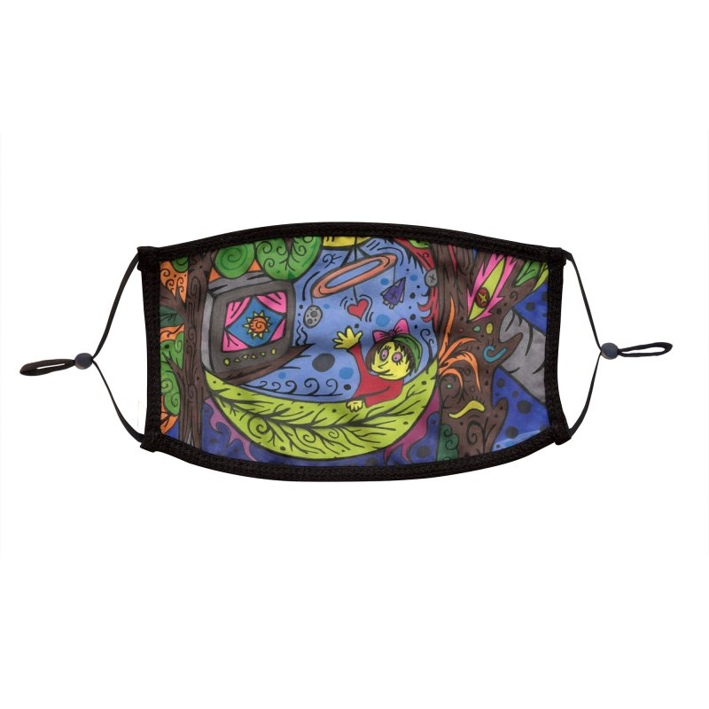 Child of Leaves of the Patella Tarot Masks, Gifts & Accessories Face Mask by Paint AF's Artist Shop