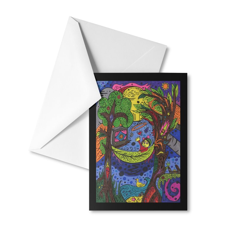 Child of Leaves of the Patella Tarot Masks, Gifts & Accessories Greeting Card by Paint AF's Artist Shop