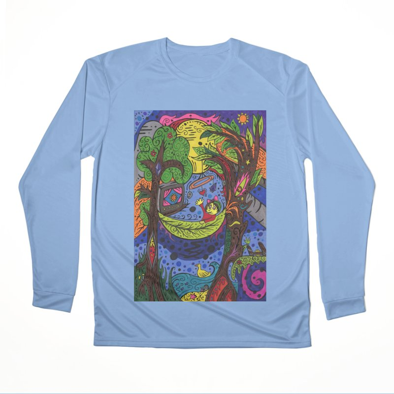 Child of Leaves of the Patella Tarot Fitted Clothing Styles Longsleeve T-Shirt by Paint AF's Artist Shop