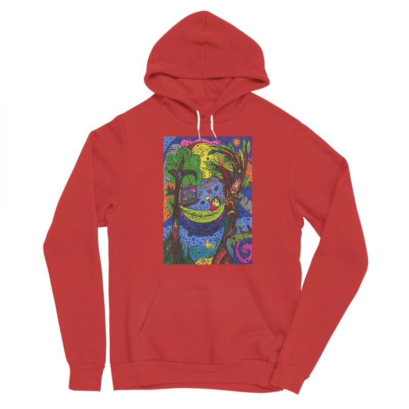 Child of Leaves of the Patella Tarot Fitted Clothing Styles Pullover Hoody by Paint AF's Artist Shop
